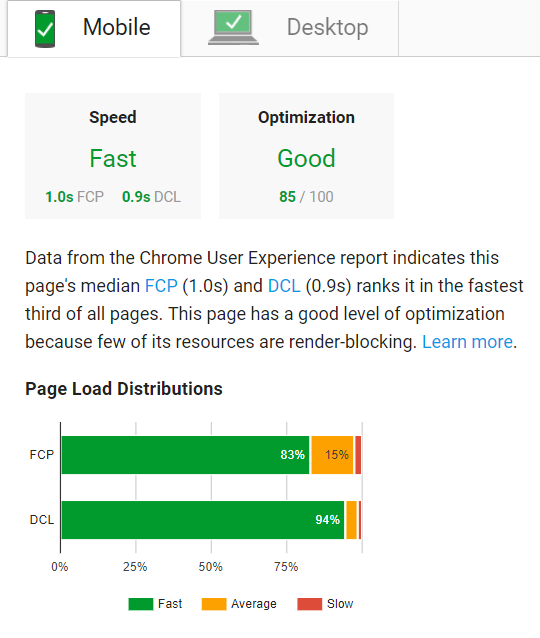 Real-world gebruikerservaring in PageSpeed Insights