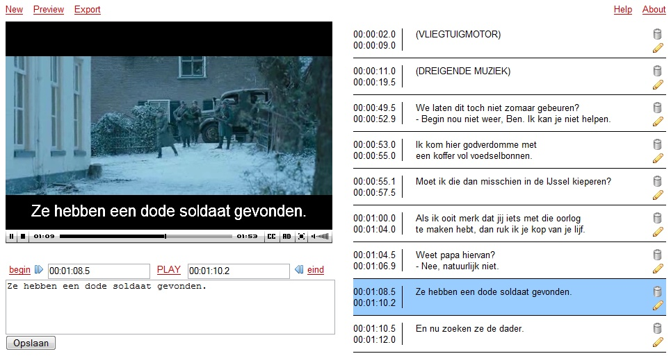 Project toegankelijke video caption editor